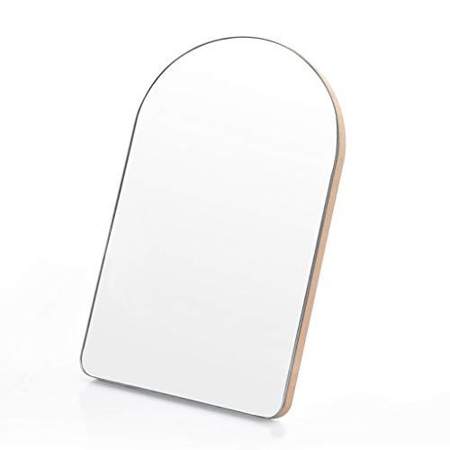 ROSG Espejo cosmético HD Simple de Madera Espejo de tocador de un Solo Lado de Escritorio Espejo de Afeitar portátil de Viaje Montado en la Pared
