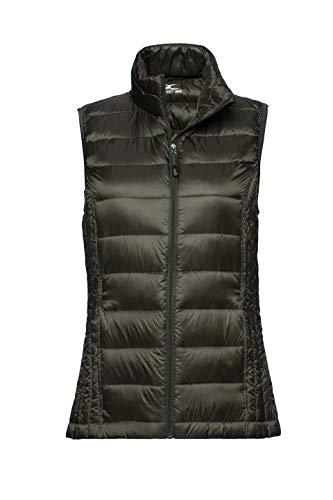 XPOSURZONE Women Packable Lightweight Down Vest Outdoor Puffer Vest Olive Night M
