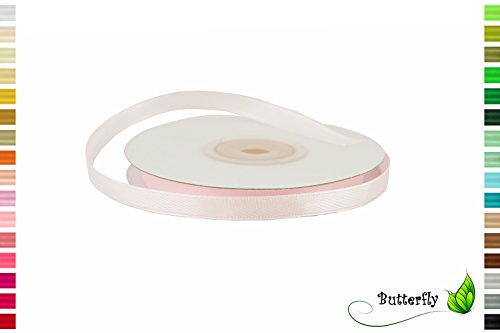 Creativery 25m Rolle Satinband 6mm // Schleifenband Deko Band Dekoband Geschenkband Dekoration Hochzeit Taufe (Rose 123 / zartrosa/Hellrosa)
