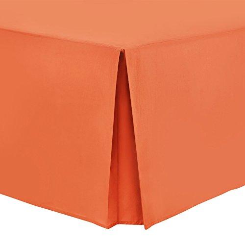 Nimsay Home Bettvolant aus Polyester-Baumwollmischgewebe, unifarben - Super King - Orange