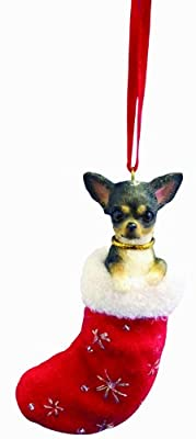 Chihuahua, Black and White Stocking Ornament by E&S Imports, Inc