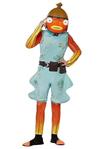 InSpirit Designs Youth Fortnite Fishstick Costume Orange, Medium