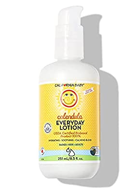 California Baby Everyday Lotion (8.5 Ounces) Moisturizer for Dry, Sensitive Skin   Post Bath and Diaper Changing   Non-Greasy, Fast-Absorbing Formula (Everyday Lotion - 8.5oz) by California Baby