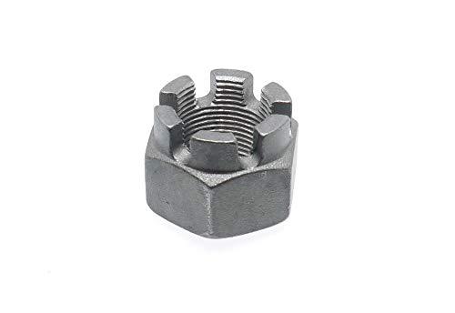 5 Stk DIN 935 Kronenmutter Feingewinde M10 x 1 - Stahl