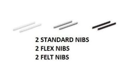 Wacom Bamboo Replacement Nib Set (2 Standard, 2 Flex, 2 Felt) For CTL, CTH, CTE, INTUOS