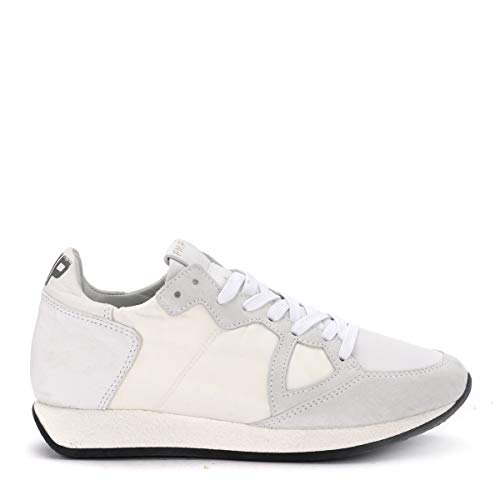 Philippe Model Sneaker Monaco Vintage In Textil Und Leder Weiss