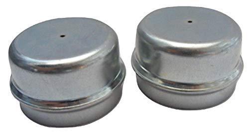 Troon&Co – 2 x 50 mm Metall-Fett-Staubkappen für Anhänger-Räder passend für Indespensionen, 2 Stück