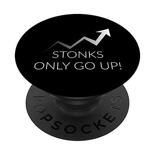 Le pietre salgono solo in alto Stock Market Day Trading Inve PopSockets PopGrip: Impugnatura per Telefoni Cellulari e Tablet Intercambiabile