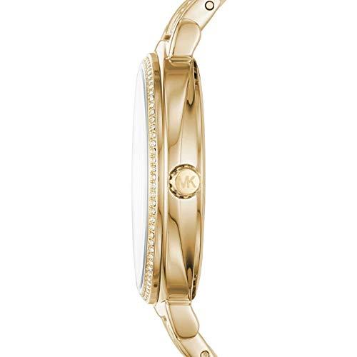 Michael Kors Damen-Armbanduhr Analog Quarz One Size, Gold, Gold