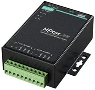 2 Port RS-422/485 Device Server, 10/100M Ethernet, Terminal Block, 15KV ESD, 12-30VDC with 2KV Isolation