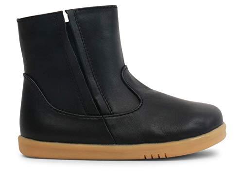 Bobux I-Walk Shire Merino Lined Winter Boot_Laufschuhe aus Leder, Futter aus Merino-Wolle, flexible und widerstandsfähige Sohle, Reißverschluss, schwarz - Schwarz - Größe: 23 EU