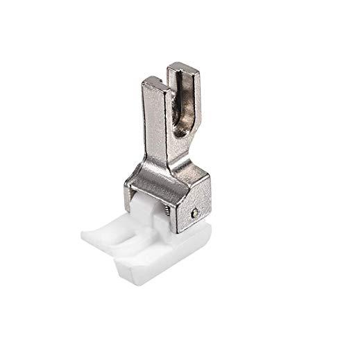 N/D TCR-1/8 Teplon - Guía de bordo recto, pie compensador para máquinas de coser industriales Juki, Singer y otros con agujas