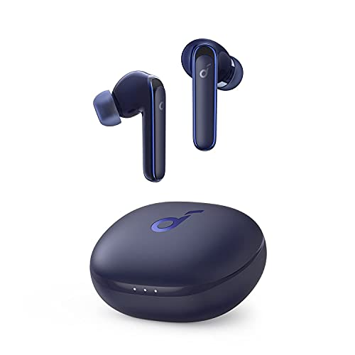 Anker Soundcore Life P3(ワイヤレス イヤホン Bluetooth 5.0)【完全ワイヤレスイヤホン / Bluetooth5.0対応 / ワイヤレス充電対応/ウルトラノイズキャンセリング/外音取り込み / IPX5防水規格 / 最大35時間音楽再生 / ゲーミングモード/専用アプリ対応/通話ノイズリダクション/PSE技術基準適合】ネイビー