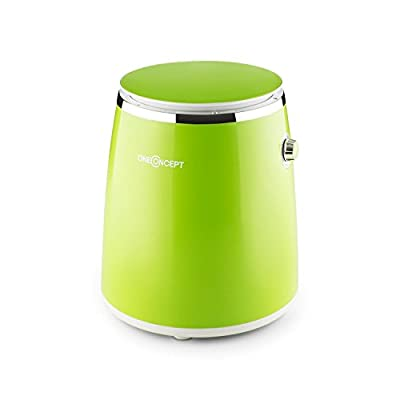 Oneconcept Ecowash-Pico - Washing Machine, Mini Washing Machine, Camping Washing Machine, Top Loading, Spin Function, 3.5 kg Laundry, 380W, Energy/Water-saving, Timer, Easy Operation - Green