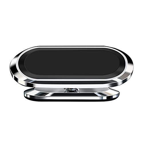 OhhGo Handyhalterung fürs Auto, rechteckig, flach, 360 Grad drehbar, magnetischer Telefonhalter (Silber mit Basis)