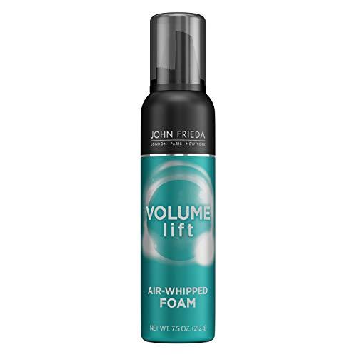 John Frieda Volume Lift Air Whipped Foam for Lightweight Fullness, Fine Hair Nourishing Mousse for Natural Volume, 7.5 Ounces, Formulated with Air-Silk Technology