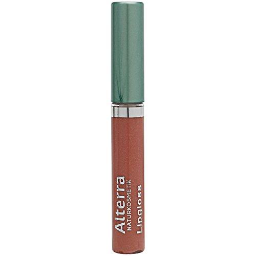 Alterra Lipgloss 5 ml Farbe 16: Charming, zarte Gloss-Textur mit Bio-Sheabutter & Vitamin E für gepflegte & glänzende Lippen ohne zu kleben, zertifitzierte Naturkosmetik