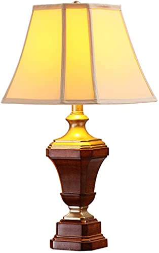 KFJZGZZ Lámpara de Mesa American Country Table Lámpara Dormitorio Lámpara de Cama Lámpara de Estudio Retro Sala de Estudio Lámpara de Mesa Lámpara de Cama Lámpara de Noche