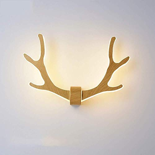 WHSS Luces de Pared Europa Moderno Simple Antler Wall Light Dormitorio de la Cama Pasillo escaleras Creatividad salón lámpara de Pared Único