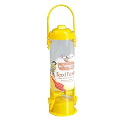 Kingfisher BF011 Standard Bird Seed Feeder - Yellow by King Fisher