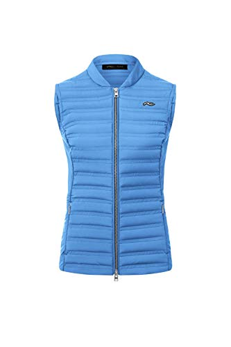 KJUS Women Bellavista Vest Blau, Damen Daunen Weste, Größe 34 - Farbe Stormy Blue