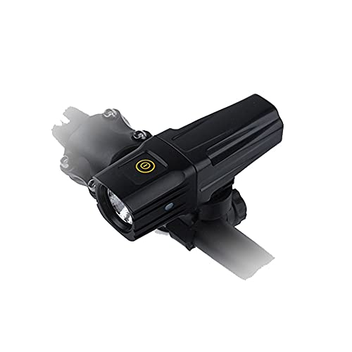 Dabeigouztoud linterna frontal, Conjunto de luces de bicicletas recargables USB, tiempo de ejecución 4 horas 600 Lumen Super Bright Fairlight Frontal Lights, 4 Modo de luz Se adapta a todas las bicicl