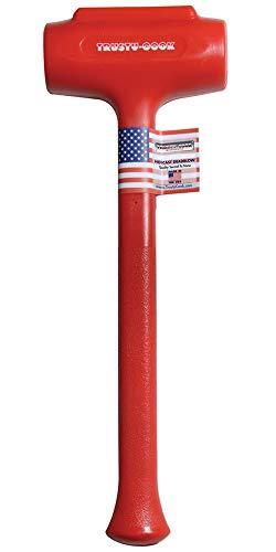 Trusty-Cook - Polyurethane Dead Blow Hammer (88 oz, Red)