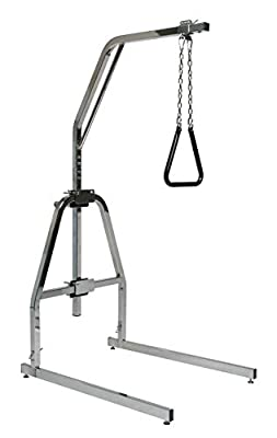 Lumex Versa-Helper Bed Trapeze with Floor Stand, 450lb Weight Capacity, Chrome, 2940B