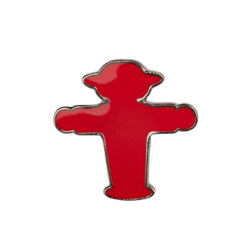 AMPELMANN Pin - Anstecker Steher rot/silber