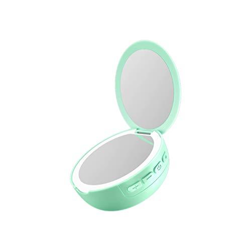 SUPVOX Mini Altavoz Inalámbrico con Espejo de Maquillaje Iluminado Altavoz Portátil con...