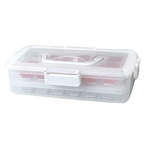 JJINPIXIU Bandejas para Cubitos de Hielo y Juego de contenedores de Almacenamiento de Cubitos de Hielo con Tapa de Cierre hermético Úselo como una Caja portátil en el congelador, estantes, despensa