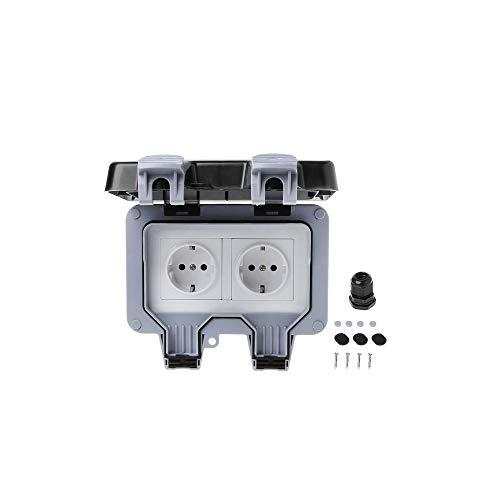 Cambiar el enchufe de pared IP66 resistente a la intemperie exterior y el polvo norma europea,2