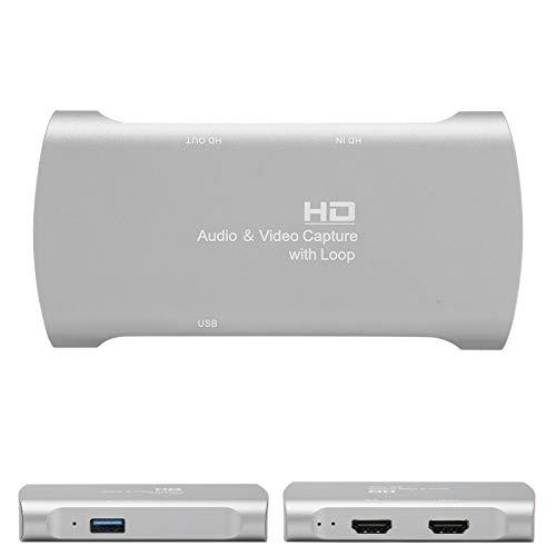Tarjeta de captura de video 4K 1080P, convertidor de video de tarjeta de captura de video multimedia HD portátil, dispositivo de tarjeta de captura de grabación USB 2.0, para transmisión en vivo