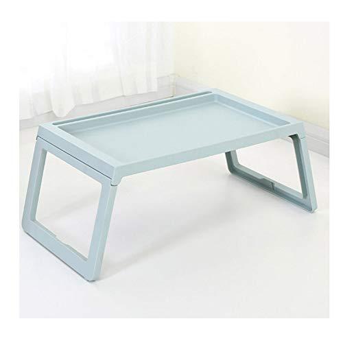 ZYQDRZ Laptoptisch Einfacher Klappbett-Schreibtisch Lazy Study Table,Blue