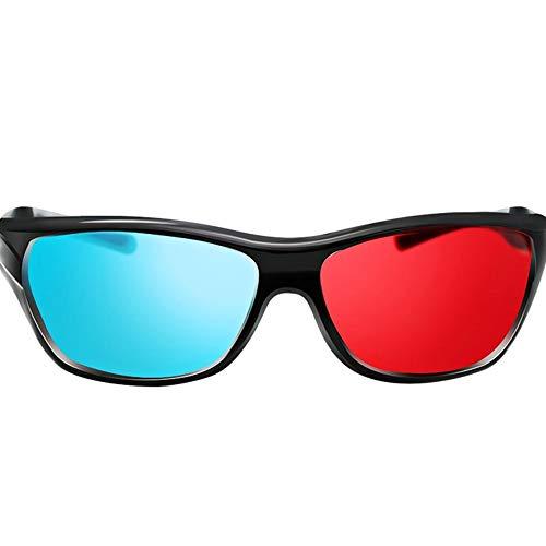 Ogquaton Rot Blau/Cyan 3D Kunststoff Brille für 3D Movie Match Kreativ und nützlich
