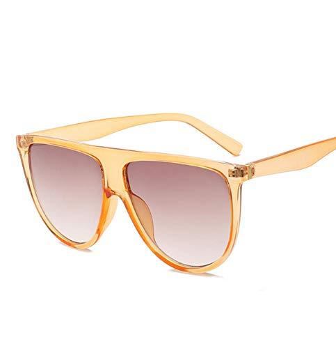 Gafa de sol Gafas de sol Mujer Vintage Retro Flat Top Thin Shadow Gafas de sol Square Pilot Designer Large Shades A