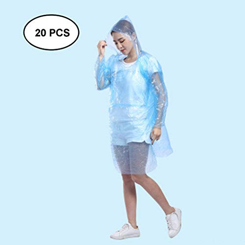 Learn More About Lgan 20PCS Rain Poncho for Adults, Clear Raincoats with Hood Disposable Rain Coats ...