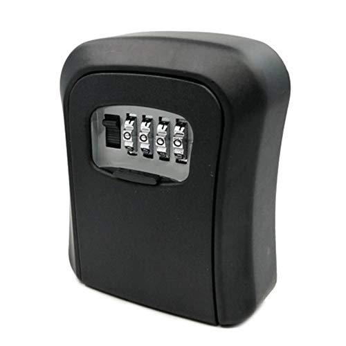Caja Fuerte para llaves Bloqueo de teclas del cuadro de montaje en pared de 4 combinación del dígito Lockbox impermeable Caja fuerte con llave de almacenamiento portátil for la casa llave de tarjeta d