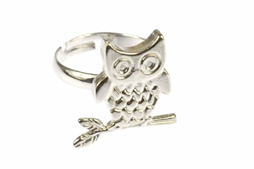 Miniblings Eulenring Ring Eule Uhu Fingerring Kauz Uhu Vogel Vögel AST Silber