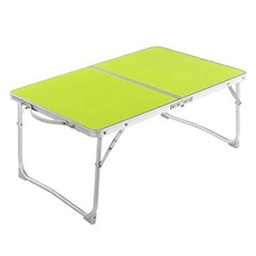 YLYWCG Side Table Portable Foldable Desk,Laptop Stand Ergonomic,Camping Table Indoor and Outdoor Picnic Dining Barbecue Table Interior Furniture (Color : Green)