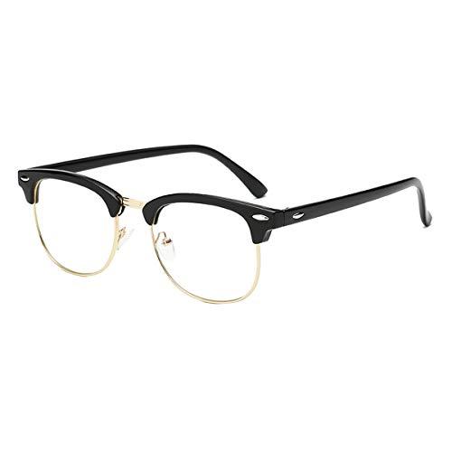Kurzsichtig Brille Myopie Kurzsichtigkeit Brille Mit Dioptrien -1.00 Für Herren Frauen Stilvoll Brillenfassung Schwarz