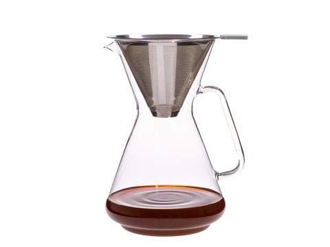 Trendglas Jena 123017 Coffee & More Kaffeebereiter Brasil I-S mit Edelstahlfilter, Fassungsvermögen 1,2 Liter