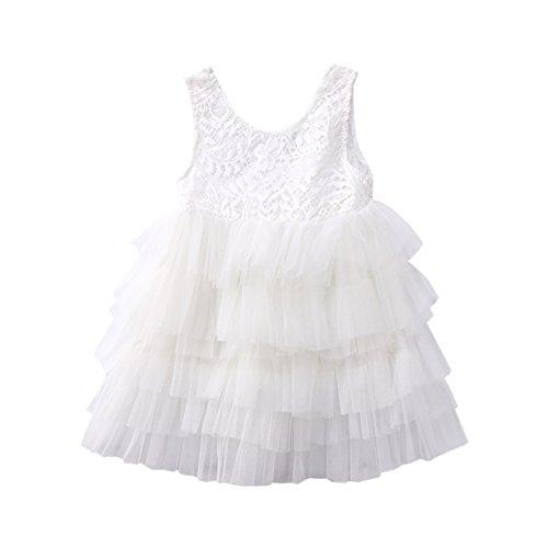 Carolilly Vestido de Bebé Niña para Boda Vestidos Verano sin Mangas sin...