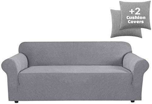 Mazu Homee High Bouncing - Juego de sofá impermeable (uno), juego de sofá + dos cojines para cinturón, bolsa lateral + suelo elástico de espuma deslizante, adecuado para niños, mascotas (ceniza media)