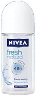 New Nivea Fresh Natural 48 Hours Deodorant Roll on 50 Ml