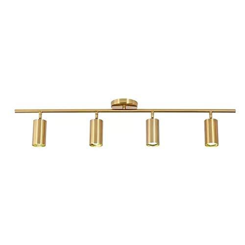 LED Deckenleuchte drehbar, Modern Retro Antique Brass 4 Way verstellbarer Deckenstrahler 10W Warm Light (4-flammig)