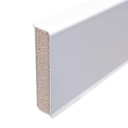 Cubu flex life Design Sockelleiste 60mm 12,6x60mm, 10x2,5m, weiß für vinyl a 2,5 lfm, 3,27 EUR/lfm 81,80 €/Verpackungseinheit (10 Stück)