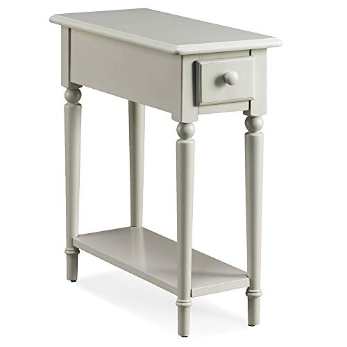 Leick Coastal Narrow Hall Stand/Sofa Table with Shelf, Orchid White