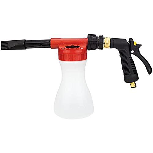 Z&HX Lavado Coches Pistola Espuma Manguera jardín, Ajustable Espuma Blaster Limpieza con Espuma Gruesos, los Ultimate Car Wash formador Espuma, se Conecta a Cualquier Manguera jardín