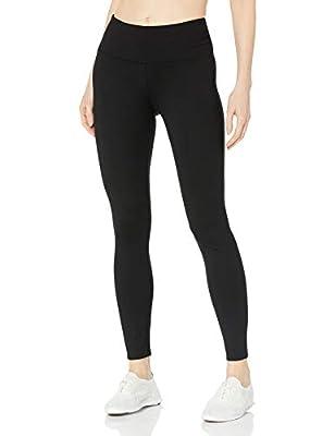 "Calvin Klein Women's 32"" Inseam Control Waistband Full Length Legging (Regular & Plus Sizes), Dark Black, Large"